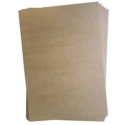 10x A4 300 GSM Brown Kraft Thick Paper Sheet Card Recycled Invitation Wedding AU