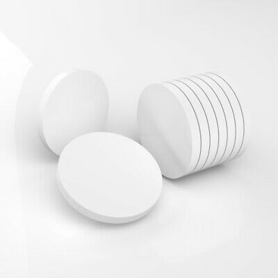 PK of 50 / 40mm Diameter / 5mm Thick / White Plastic Circles / Acrylic Disc