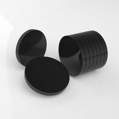 PK of 50 / 40mm Diameter / 5mm Thick / Black Plastic Circles / Acrylic Disc