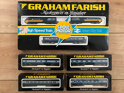 Set Inter-City 125 + 4 Waggons GRAHAM FARISH 8125 0705 0725 0745 0765 - RARITÄT