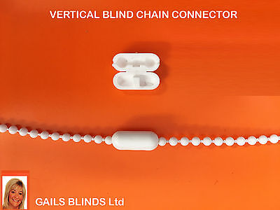 Roller/Vertical blind chain connector cord joiner