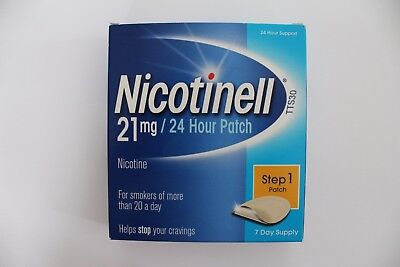 Nicotinell Step 1 - 21mg Patch - 7 Day Supply - 24 Hour Support