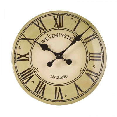"Smart Garden Outside In Designs Westminster Tower Wall Clock 12"" Cream"