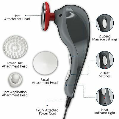 Handheld Massager Heat Therapy Vibrating Machine Electric Full Body Muscle Relax