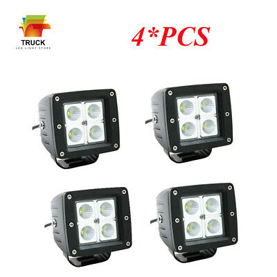 4X3inch Cube Pods CREE LED Work Light Flood Bar Off-road Boat ATV Lamp JeepTruck