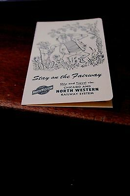 Chicago And North Western Railway System Advertisement    Golf Score Card Unused