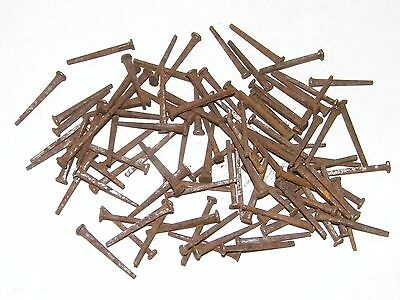 """100 Vintage Square Nails 1 1/4"""" New Old Stock"""