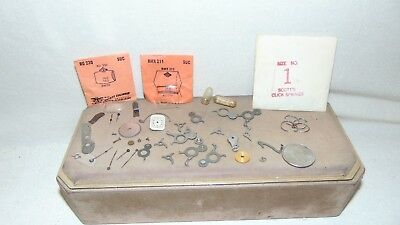 Lot Of Vintage Clock And Watch Parts