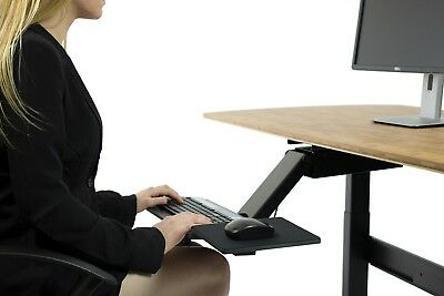 KT2 Ergonomic Under-Desk Adjustable Height & Angle Sit to Stand Up Keyboard Tray