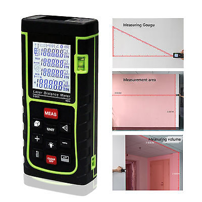 40M LCD Handheld Digital Laser Distance Meter Range Finder Measure Diastimeter