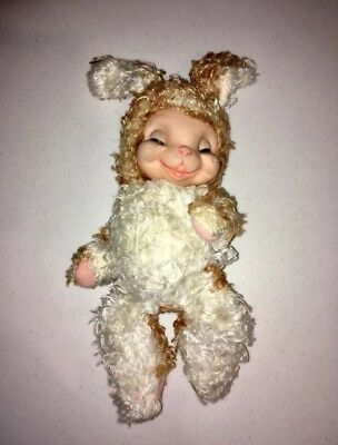 Rushton Star Creations Bunny Rabbit Plush Stuffed Animal Rubber Face Toy 1950's