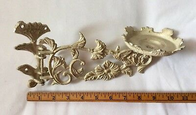 Vintage Look Cast Iron Sconce Swing Arm Candle Oil Lamp Wall Mount Hummingbird