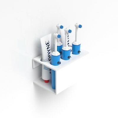 Wall Mounted Electric Toothbrush Holder & 2 Toothpaste Holder / Organiser