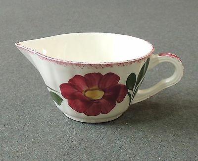 Blue Ridge Southern Potteries Hand Painted Red Nocturne Creamer Pitcher EUC