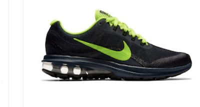 NEW! Nike Air Max Dynasty GS Boys Grade School Running Shoes Dark Navy/Volt