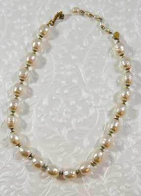 Vintage 1960s Baroque Pearl Miriam Haskell Costume Pearl Necklace NICE