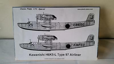 Classic Plane Hasegawa 02048 Kawanishi H6KS Type Flying Boat Limited Decal Editi