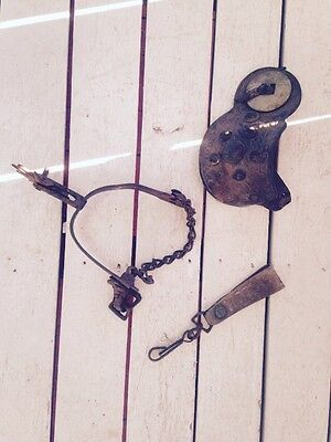 Antique Hand Forged Single Riding Spur With Two Accessories