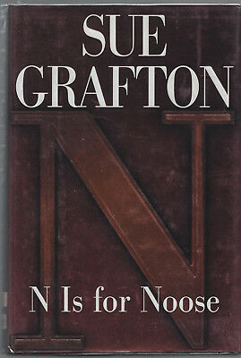 """SUE GRAFTON, author, AUTHENTIC HAND SIGNED BOOK """"N Is For Noose,"""" HB w/DJ, 1st"""