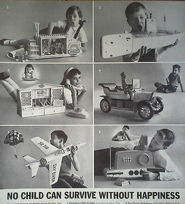 Remco Toys Magazine Ad BW Pics Barracuda Sub, Skydiver Jet Plane Others 13 x 10