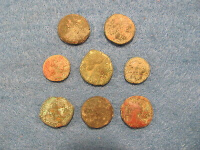 Wonderful RARE Lot of ( 8) Greek coins  of Sicily 400-200 B.C.