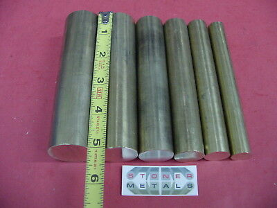 "5/8"", 3/4"", 7/8"", 1"" ,1-3/16"" & 1-3/8"" C360 BRASS ROUND 5"" long Bar Stock #7.4"