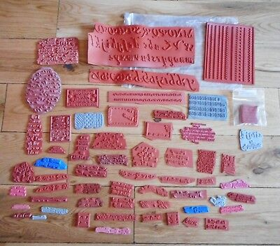 Huge selection of Rubber stamps Alphabet Words / Phrases bundle lot