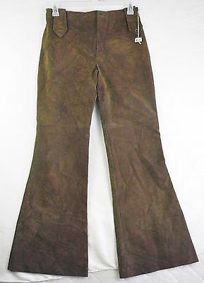 1960's 1970's True Vintage Womens Bell Bottom pants Sz 11-12 Union Made!