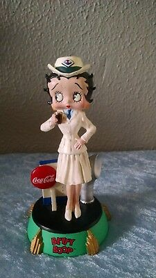 Betty Boop Coca Cola Premiere Edition Sailor Figurine Navy