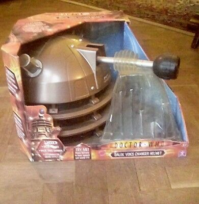 Doctor dr who dalek voice changer helmet boxed unused brand new sealed