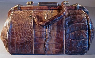 Rare Antique Doctors Bag/numbered On The Bottom. Restoration Piece. Very Old