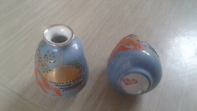 Two small vintage porcelain Chinese vases signed