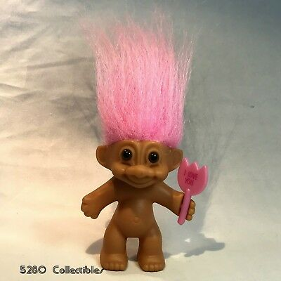 """Russ Troll Doll - Pink Hair NAKED with """"I Love You"""" sign Bunny Tail - 3"""