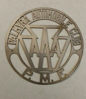 AAA Palmyra Automobile Club P.M.F metal badge