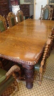 Set Of10  Good Qualityvictoria Carved Oak Dining Chairs