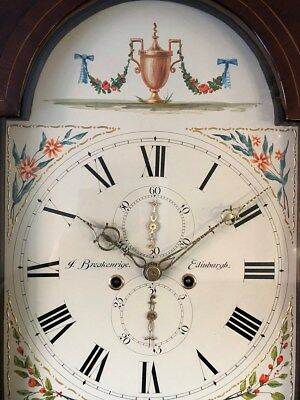 Longcase Grandfather Clock By J Breakenrige Of Edinburgh Cica 1800 8 Day