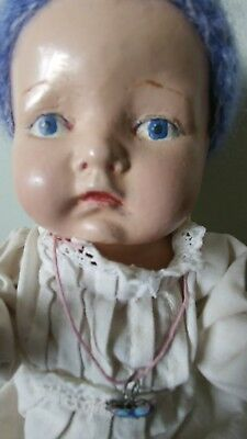 """antique composition baby doll 9"""" ex cond"""
