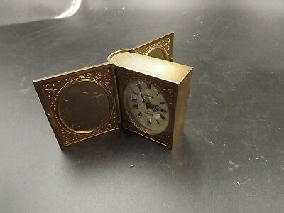 Vintage Europa Novelty Book Shaped Alarm Clock German Made 2 Jewels