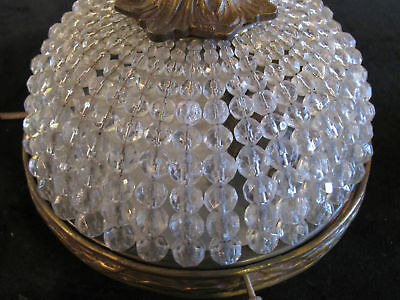 Lamp entrance hall antique French bronze and crystal circa 1950