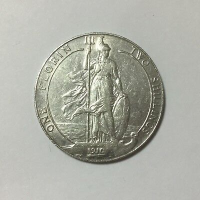 1910 Great Britain One Florin Two Shillings, Edward VII