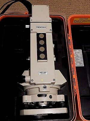 Pentax Pd 20--20 Second Digital Theodolite With Case & Mc14 Quick Charger