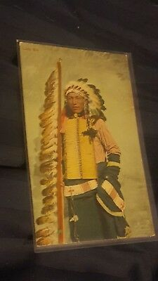 Rare 1904 Germany Made Native American Indian Chief Little Elk Unsent Postcard!!