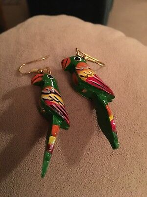 Colorful Tropical Parrot Earrings