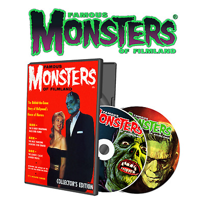 Famous Monsters of Filmland Collection PCDVD PDF 166 ISSUES!!! 2 DISC HORROR SET
