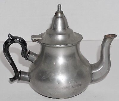 Antique Pewter Queen Anne Teapot