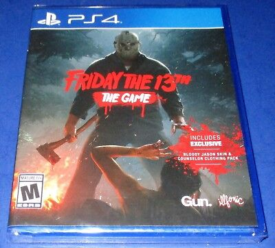 Friday the 13th: The Game PlayStation 4 *Extra DLC! *Factory Sealed! *Free Ship!