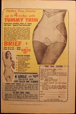 Tummy Trim - Girdle - Vintage 1970's Comic Book Page Ad - Advertising
