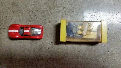aurora slot cars ho Ford j with case and Dino without case