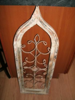 Antique Architectural Repurposed Window Wall Decor Piece