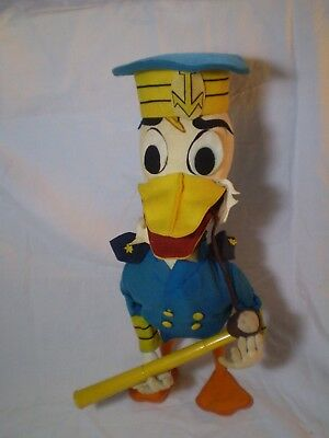 "Extra Rare ANTIQUE Collectible SCROOGE DONALD DUCK CAPTAIN Big Stuffed 21"" Doll."
